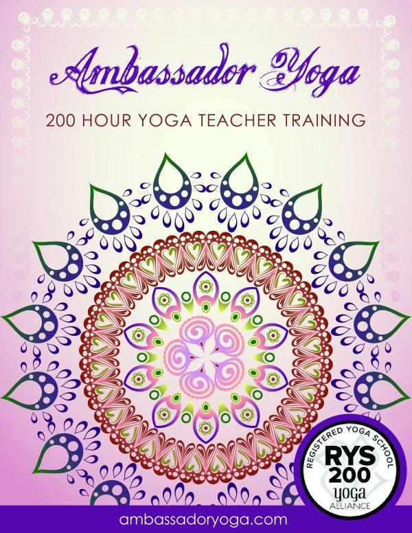 Yoga Teacher Training 200 Hour Yoga Alliance Ambassador Yoga Manual Cover
